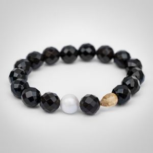 Armband aus Onyx, Citrin und Perle 20AB