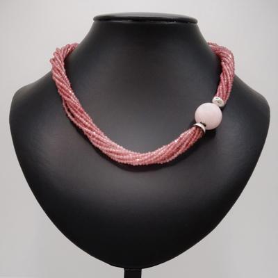 handgemachte Schmuck aus Edelsteine Collier aus Rosa Turmalin